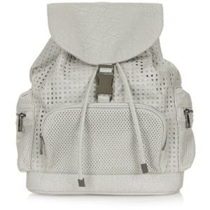 TOPSHOP | grey perforated backpack